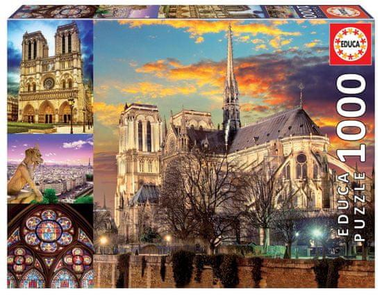 EDUCA Puzzle Notre Dame, koláž 1000 dielikov