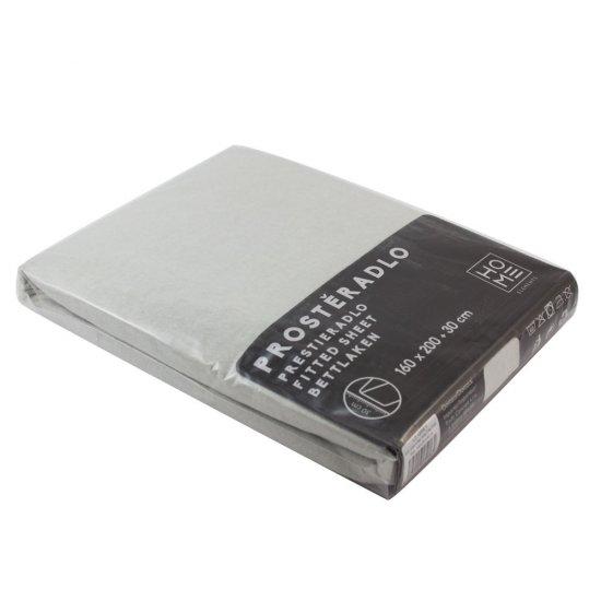 Home Elements Napínací prostěradlo Jersey 90x200 cm, světle šedá, bavlna