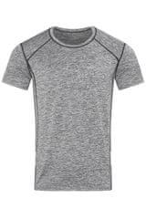 Stedman Pánské sportovní tričko Recycled Sports-T Reflect, Grey Heather M