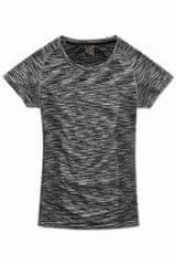 Stedman Dámské funkční tričko Active Seamless Raglan, Black Opal Melange XL