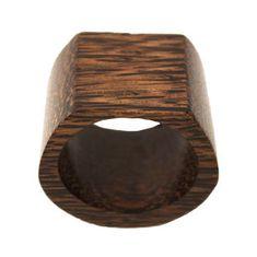 Domedeco Drewniany pierścień na serwetki tekstylne
