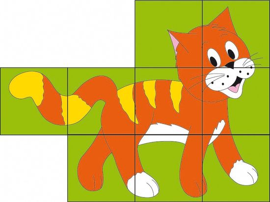 Woody Kubus 3x3 Színes állatok