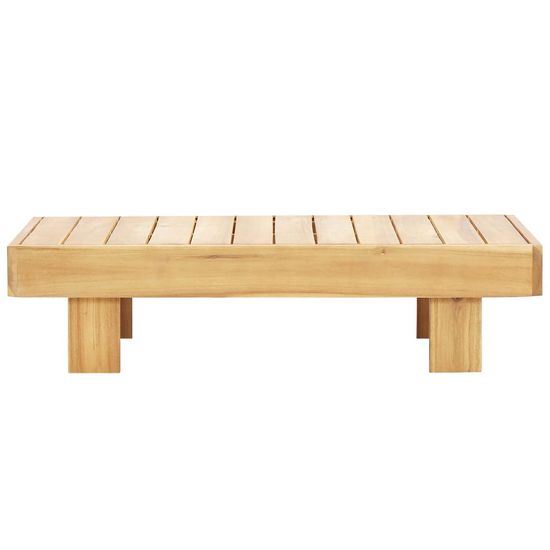 shumee Klubska mizica 90x60x25 cm trden akacijev les