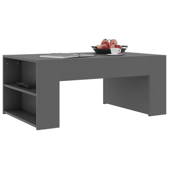 slomart Klubska mizica siva 100x60x42 cm iverna plošča