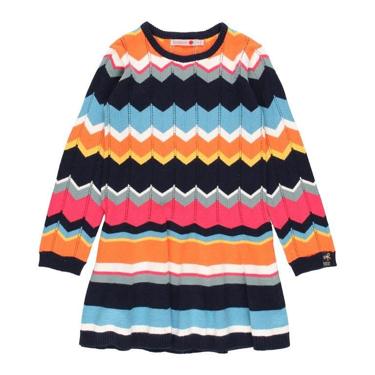 Boboli dívčí šaty FOLK FOREVER 128 vícebarevná