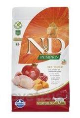 N&D Pumpkin CAT NEUTERED Quail & Pomegranate 1,5 kg