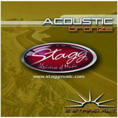 Stagg AC-12st-BR, sada strún pre 12-tich strunovú gitaru, extra-light