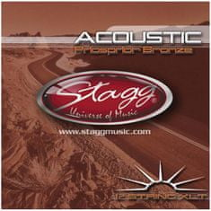 Stagg AC-12ST-PH, sada strun pro 12-ti strunnou kytaru, extra light