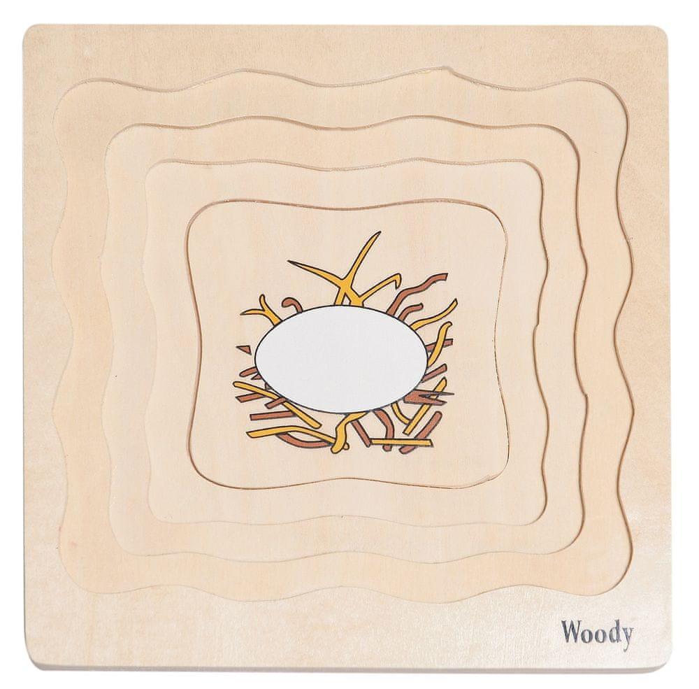 Woody Puzzle na desce Vývoj slepice