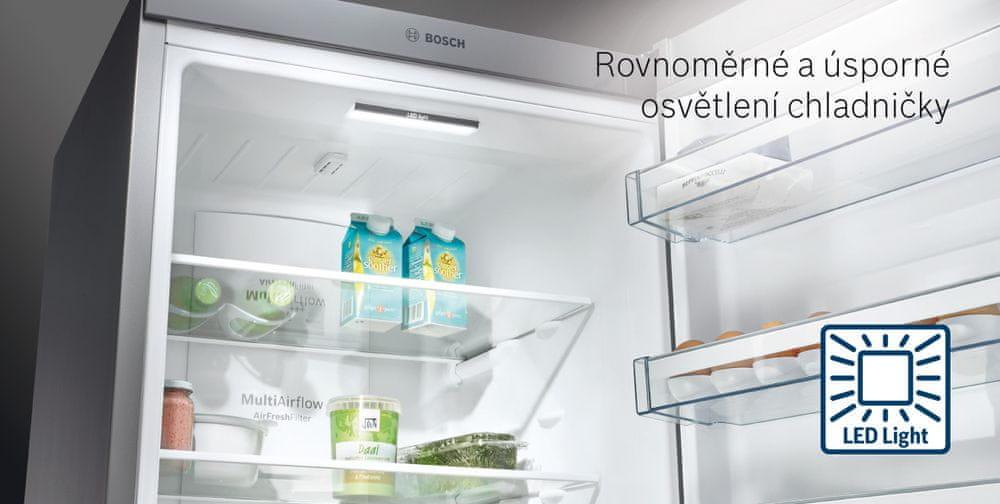 Bosch lednice s mrazákem KGN49XLEA + CASHBACK 2000 Kč