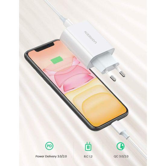 Ugreen polnilec, USB-C, QC3.0, 30 W, bel