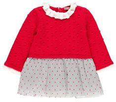 Boboli dívčí šaty MA PETIT CHÉRIE 80 šedá/červená