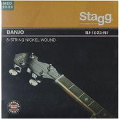 Stagg BJ-1023-NI, sada strún pre 5-tich strunové banjo, medium