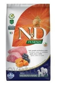N&D Pumpkin DOG Adult M/L Lamb & Blueberry 12 kg