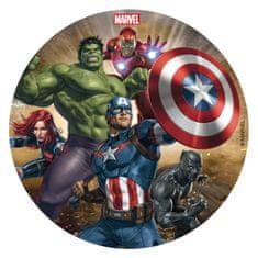 Dekora Jedlý obrázek na dort 16cm Avengers