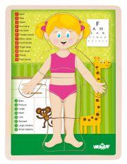 Woody Puzzle Emberi test Lány EN