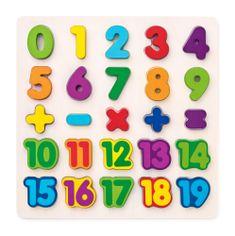 Woody Puzzle Számok keretben
