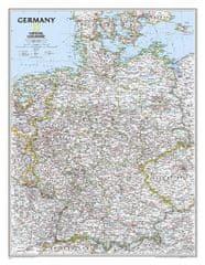 World Maps nástenná mapa Nemecko Classic 76x60cm lamino, lišty NGS