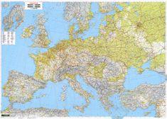 World Maps nástenná mapa Európa cestná 121x170cm 2,6mil lamino, lišty