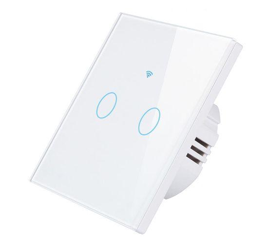 Aluzan TouchLight 02 WiFi, dvojtlačidlový vypínač, Smart Life