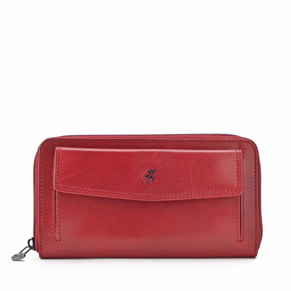 COSSET červená dámská peněženka 4491 KomodoCV