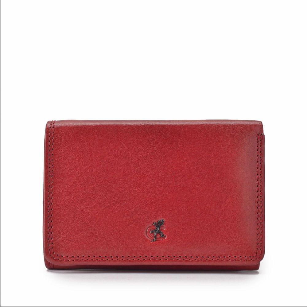 COSSET červená dámská peněženka 4499 KomodoCV