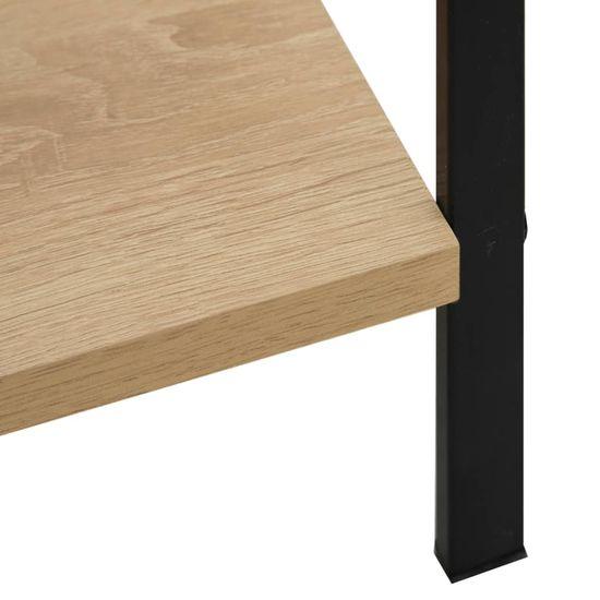 Greatstore Knjižna polica 5-nadstropna hrast 60x27,6x158,5 cm iverna pl.