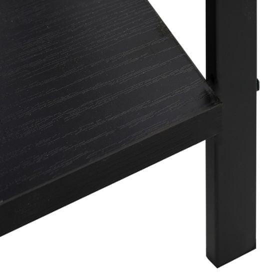 shumee Knižnica s 3 policami čierna 60x27,6x90,5 cm drevotrieska