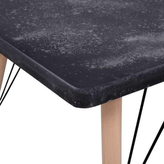 shumee betonhatású MDF dohányzóasztal 112 x 60 x 41 cm