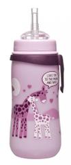 NIP láhev Straw cup, 330 ml, holka, s brčkem