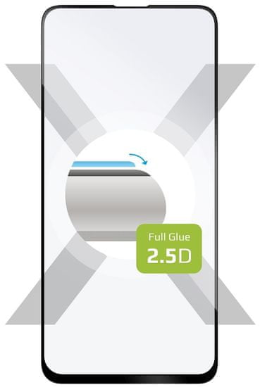 FIXED Ochranné tvrdené sklo Full-Cover pre Xiaomi Redmi Note 9, lepenie cez celý displej, čierne FIXGFA-517-BK
