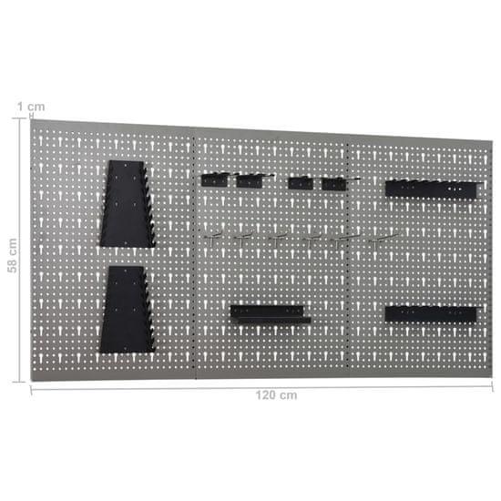 shumee Delovna miza s štirimi stenskimi paneli