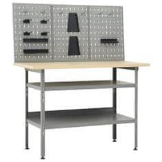 shumee Delovna miza s tremi stenskimi paneli