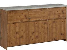Danish Style Komoda Mecan II., 150 cm, betón/dub