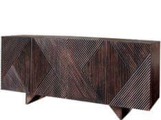 Danish Style Komoda Manchel, 177 cm, tmavohnedá
