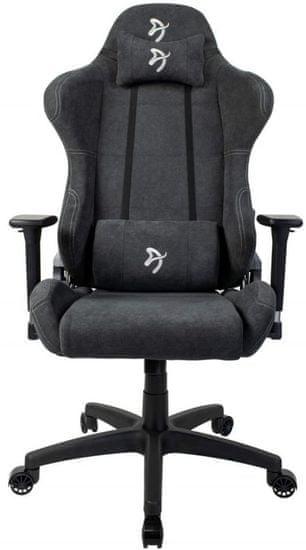 Arozzi Torretta stol , mehka tkanina, temno siv (TORRETTA-SFB-DG)