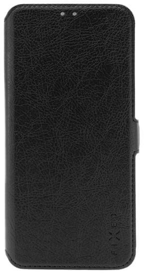 FIXED Tenké pouzdro typu kniha Topic pro Xiaomi Redmi Note 9 FIXTOP-517-BK, černé