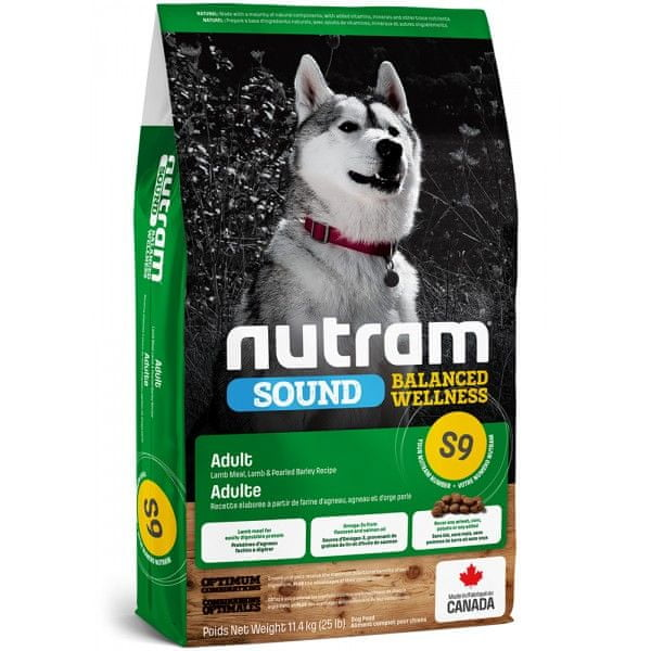 Nutram Sound Adult Dog Lamb 11,4 kg