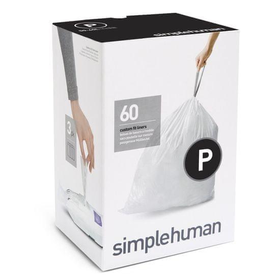 Simplehuman vreče za smeti 50-60 l, tipa P, 3 x 20 kosov