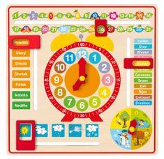 Woody Víceúčelový kalendář s hodinami CZ