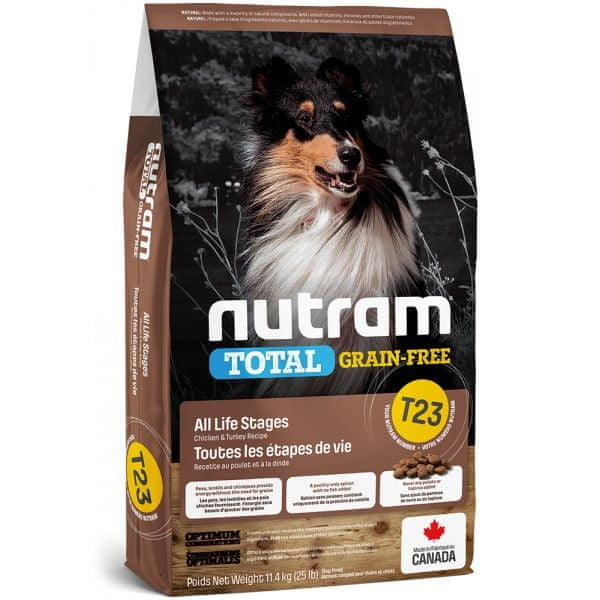 Nutram Total GrainFree Turkey Chicken Duck, Dog 11,4 kg