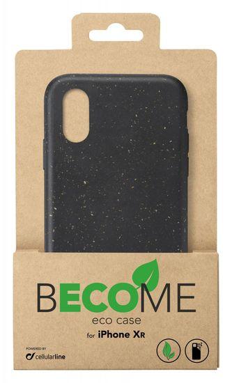 CellularLine Kompostovateľný eko kryt Become pre Apple iPhone XR BECOMECIPH961K, čierny
