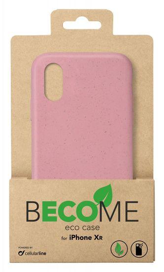CellularLine Kompostovateľný eko kryt Become pre Apple iPhone XR BECOMECIPH961P, staroružový