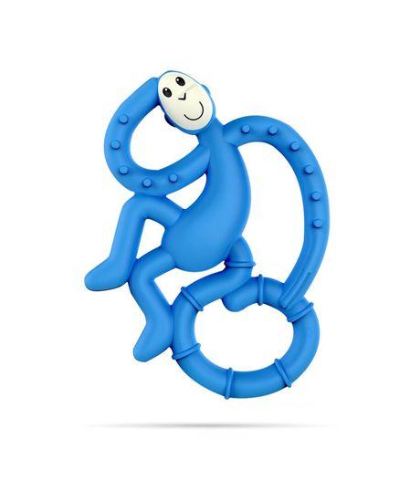 Matchstick Monkey mini grickalica s masažnom četkicom za zube, plava