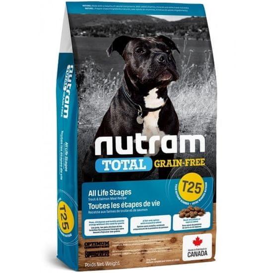 Nutram Total Grain Free Salmon Dog hrana za občutljive pse, 11,4 kg
