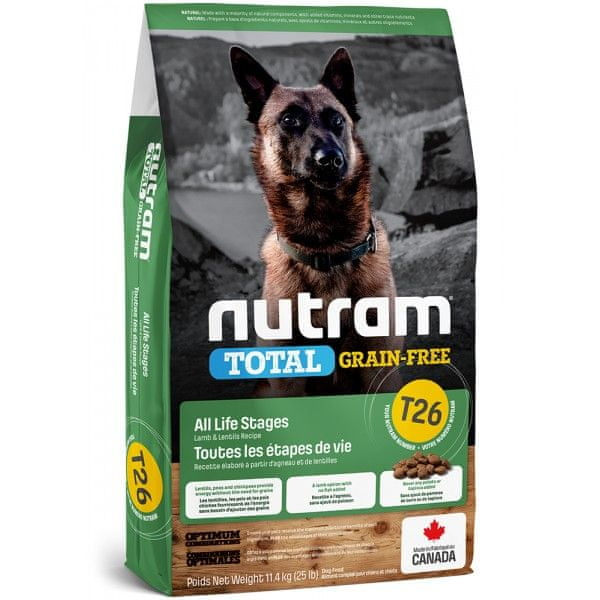 Nutram Total Grain Free Lamb, Legumes Dog 11,4 kg