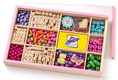 Woody Felfűzhető ABC gyöngyök dobozban