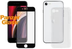 PanzerGlass szkło ochronne Edge-to-Edge Bundle 2w1, Apple iPhone 7/8/SE 2020