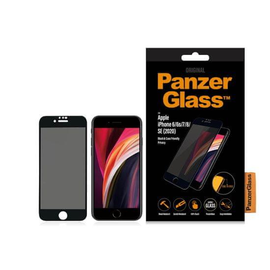 PanzerGlass zaščitno steklo za iPhone 6/6S/7/8/SE, kaljeno, črno
