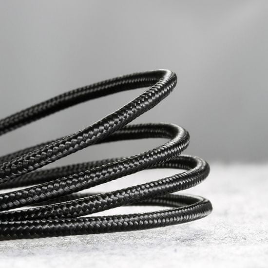 BASEUS Cafule kabel USB / Micro USB QC 3.0 2.4A 1m, črna/siva